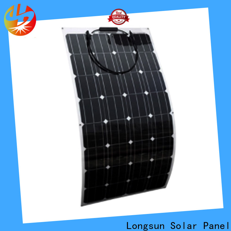 Longsun 60w semi-flexible solar panel marketing for roof of rv