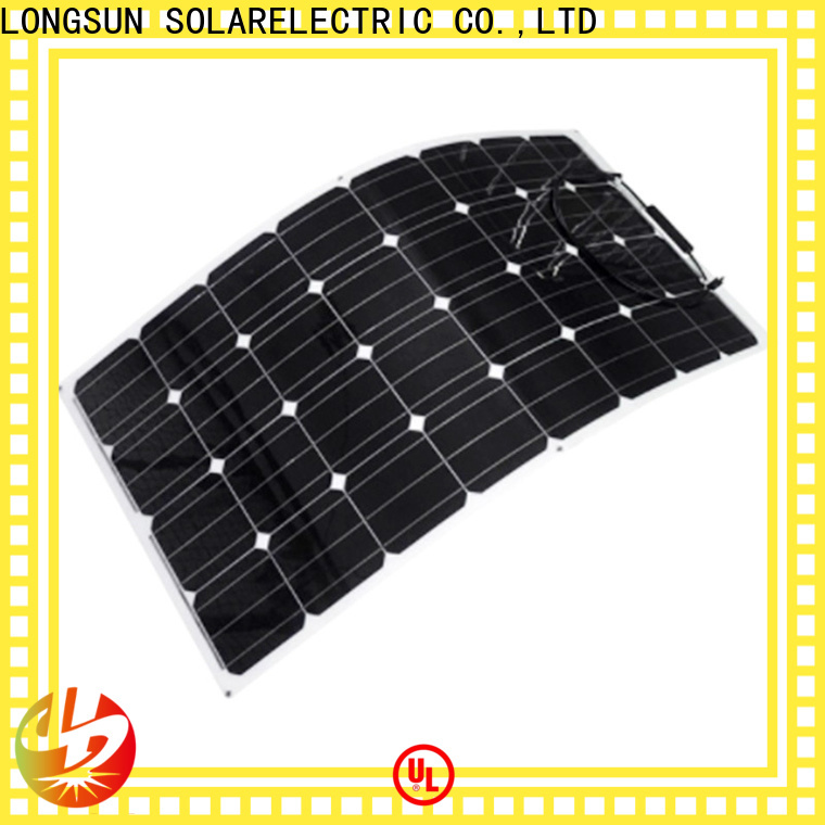 Longsun widely used semi-flexible solar panel wholesale for roof of rv