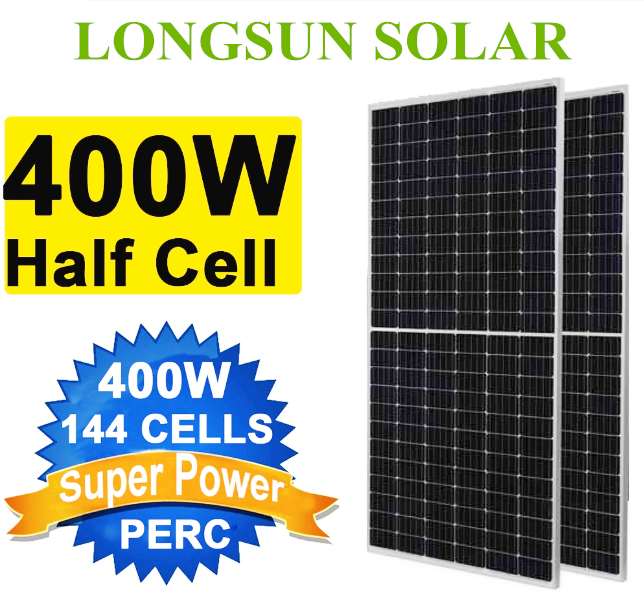 5BB Solar Power 390W 400W 410W 420W Half Cell Perc Monocrystalline Solar Panel
